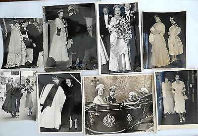 "ORIG ROYAL 1950's PRESS PHOTOGRAPHS KING GEORGE VI QUEEN ELIZABETH etc 10"" X 12"""