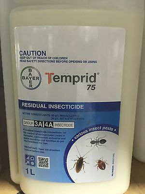 1L Temprid cockroaches spiders ants bedbugs pest control kill bug