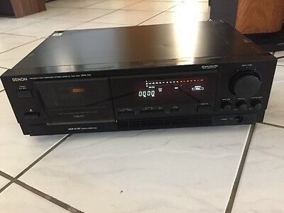 Denon DRM-700 3 Head Stereo Cassette Tape Deck Recorder Player Tested