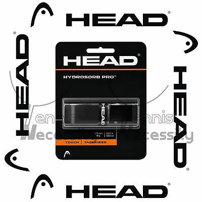 Head Black Hydrosorb Pro Touch Replacement Grip Racquet Tennis Squash Tape