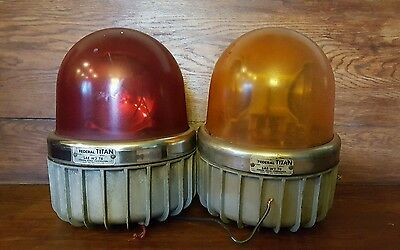 Vintage Federal Signal Titan Beacon Lot of 2
