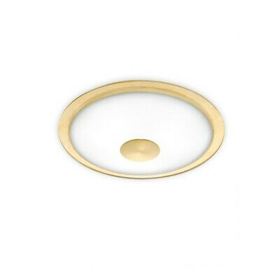 Holtkoetter Flushmount, Solid Center- Brass, Gold Accent Ring - 3603SOLBBHGD