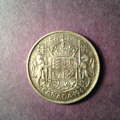 1947 Canadian Fifty Cent Piece (Silver)