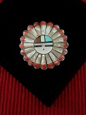 Amazing Native American Zuni Inlay Pin/Pendant by Verdel Esther Niiha