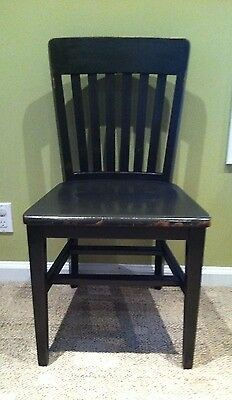 Vintage B.L. MARBLE Office CHAIR Desk MISSION STYLE Antique Wooden Slatted