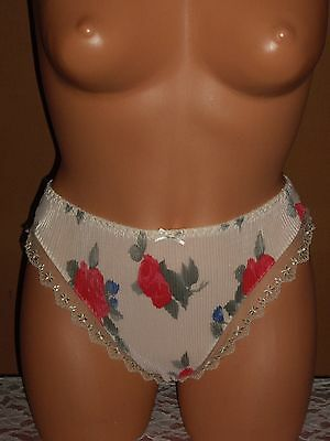 Vintage Lingerie Classified Pleated French Cut Panties Sz 6 Pink Floral