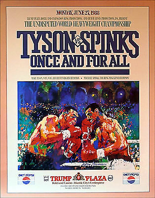 MIKE TYSON  vs  MICHAEL SPINKS / Original Vintage Closed Circuit Boxing Poster