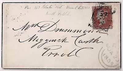 Uk Scotland Qv 1855 Penny Red On Cover To Errol