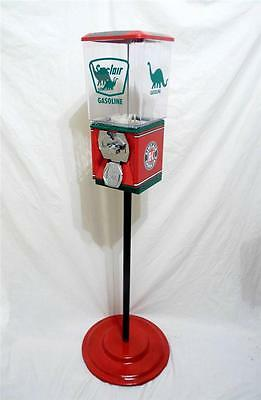 SINCLAIR GAS vintage gumball / candy machine + stand
