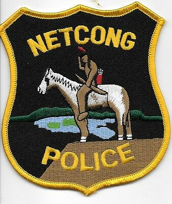 Netcong Nj Police Dept Npd Pd Indian Horse Lone Warrier Bow Arrow Local State