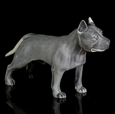 Staffordshire Pit Bull Terrier Marble Sculpture Russian Art Animal Dog Figurine