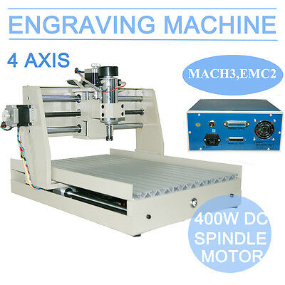 4 Axis 3040 400W Engraver Cnc Router Engraving Machine Carving 3D Cutter  Usa
