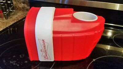 Budweiser Hockey glove beer holder