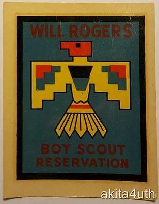 1960's Will Rogers Scout Reservation Decal BSA