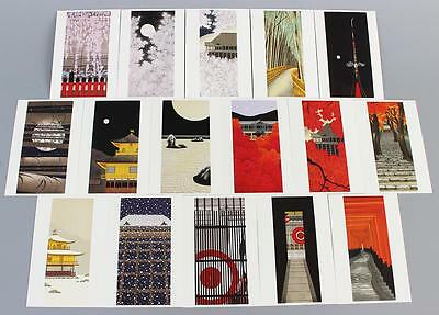 Kato Teruhide Post Cards Set (16 cards)  Made in Kyoto Japan