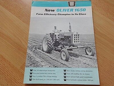 "Vintage Oliver ""new"" 1650 Tractor Brochure Good Original **"