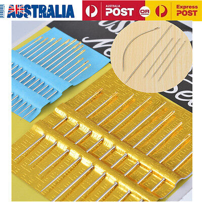 27PCS Lots Assorted Hand Sewing Needles Embroidery Mending Craft Quilt Sew Case