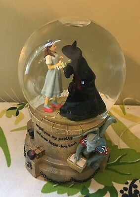 The Wizard Of Oz Water Snow Globe Dorthy & Witch SF Music I'll Get You My Pretty