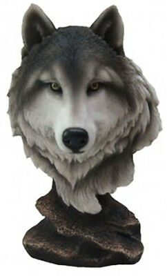 PACK LEADER    Wolf Bust   Statue Figurine  H9""