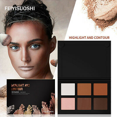 New 6 Color Contour Face Cream Makeup Cosmetic Concealer Palette Highlighter