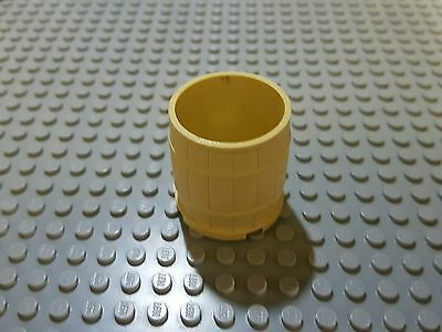 1x Lego large barrel in cream