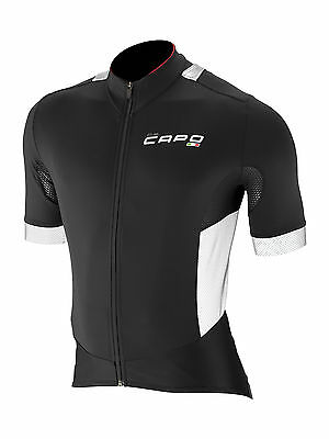 New Capo Cycling Padrone HiVis Jersey | Short Sleeve | Black | Men's Small