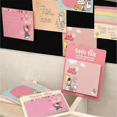 1x Lovely Girl Sticky Notes Memo Pad Bookmark Index Post it Flag Tab Sticker A3