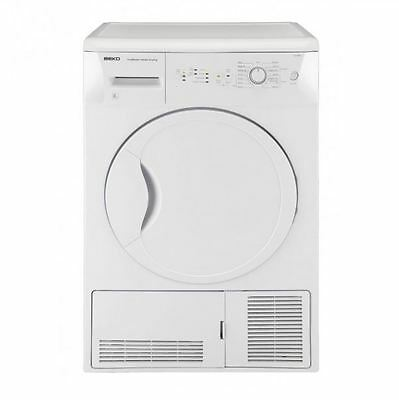 Beko DCU8230W B Rated 8kg Condenser Tumble Dryer With 15 Programmes In White NEW