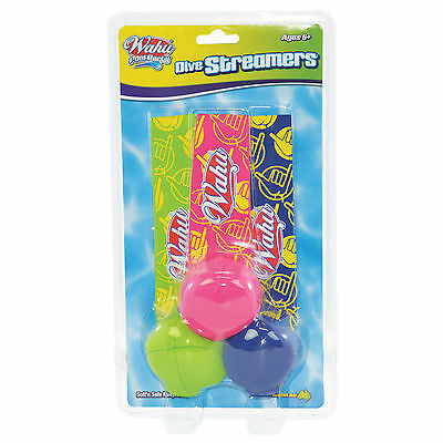 NEW Wahu Pool Party Game Swimming Dive Streamers Sport Fun Toy