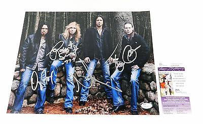 Stryper Signed 11 x 14 Color Photo Pose #2 4 JSA Autos