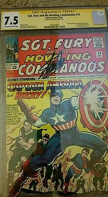 Sgt Fury and His Howling Commandos #13,  CGC SS 7.5 OW/W