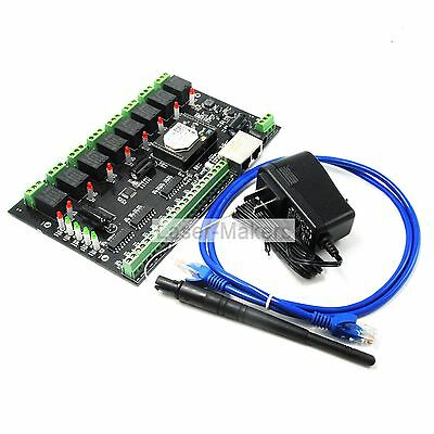 IO88 Wifi Networking Relay Board w/8 Inputs and Outputs & Remote Control TCP