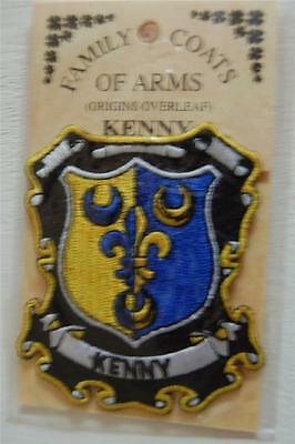 Kenny Embroidered PATCH Coat of Arms Family Crest - Sew or Iron On