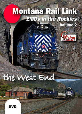 Montana Rail Link EMDs in the Rockies Volume 2 The West End DVD MRL Mullan Pass