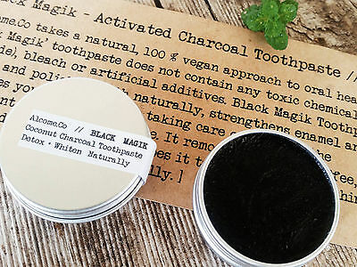 Natural Toothpaste Coconut charcoal vegan WHITENS in 1 week��