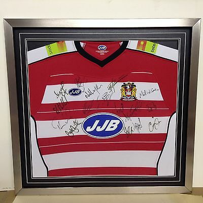 Wigan Rugby League Squad Signed Shirt (Framed with a COA)