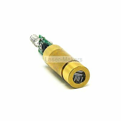 532nm 20mW Green Cross Laser Diode Module 3V-4.2V Brass with Driver + Spring