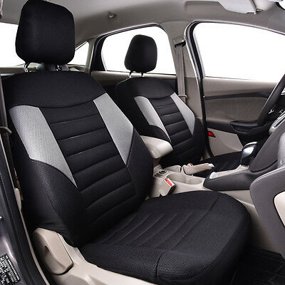 Unviersal Two Front Car Seat Covers Car Truck SUV Interiors Breathable Airbag