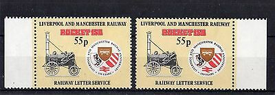 Railway Letter Stamps Liverpool & Manchester 1980 MM