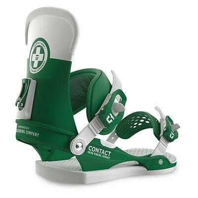 UNION Contact Green/White Attacchi Snowboard bindings Top Freestyle 2016-17