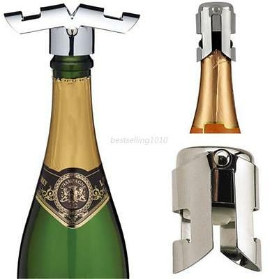 Wine Bottle Saver Stopper Cap Vacuum Sealed Sparkling Stainless Steel Champagne