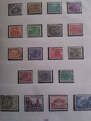 Nice full set of 1949 Berlin Germany Stamps used but unhinged