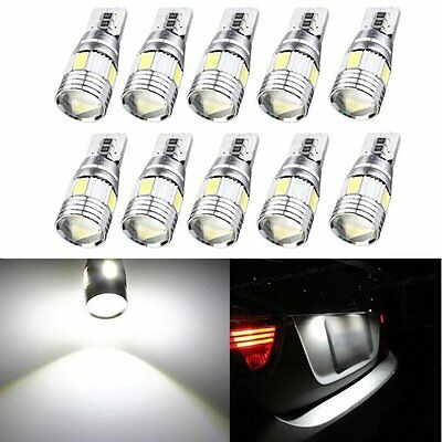 10 X T10 501 194 168 W5W 5630 LED 6-SMD Car Canbus Error Free Wedge Light Bulb
