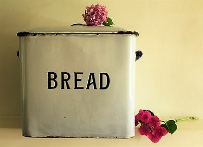 Vintage X Large Enamelware English Bread Bin 1920s/30s