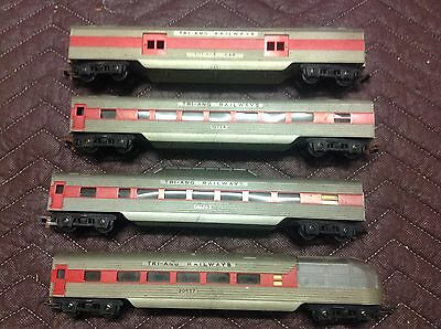 Vintage Oo Scale Triang Tri-Ang Passenger Car Set X 4