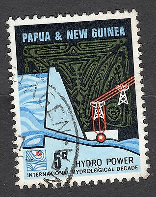 1967 Papua New Guinea 5c Hydro Electric Dam SG 113 Very Good Used R7425