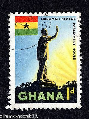 1959 Ghana 1d Nkrumah Statue Accra FINE Used R26740
