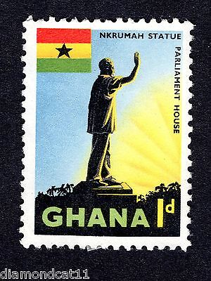 1959 Ghana 1d Nkrumah Statue Accra FINE Used R26741