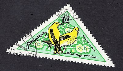 1961 Mongolia 15m Song Birds Golden oriole SG205 FINE USED R29254