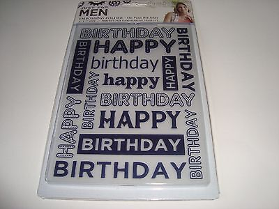 "SIGNATURE COLLECTION EMBOSSING FOLDER - JUST FOR MEN - 5"" x 7"""